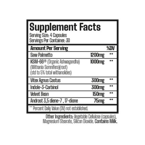 regenerate pct supplement facts